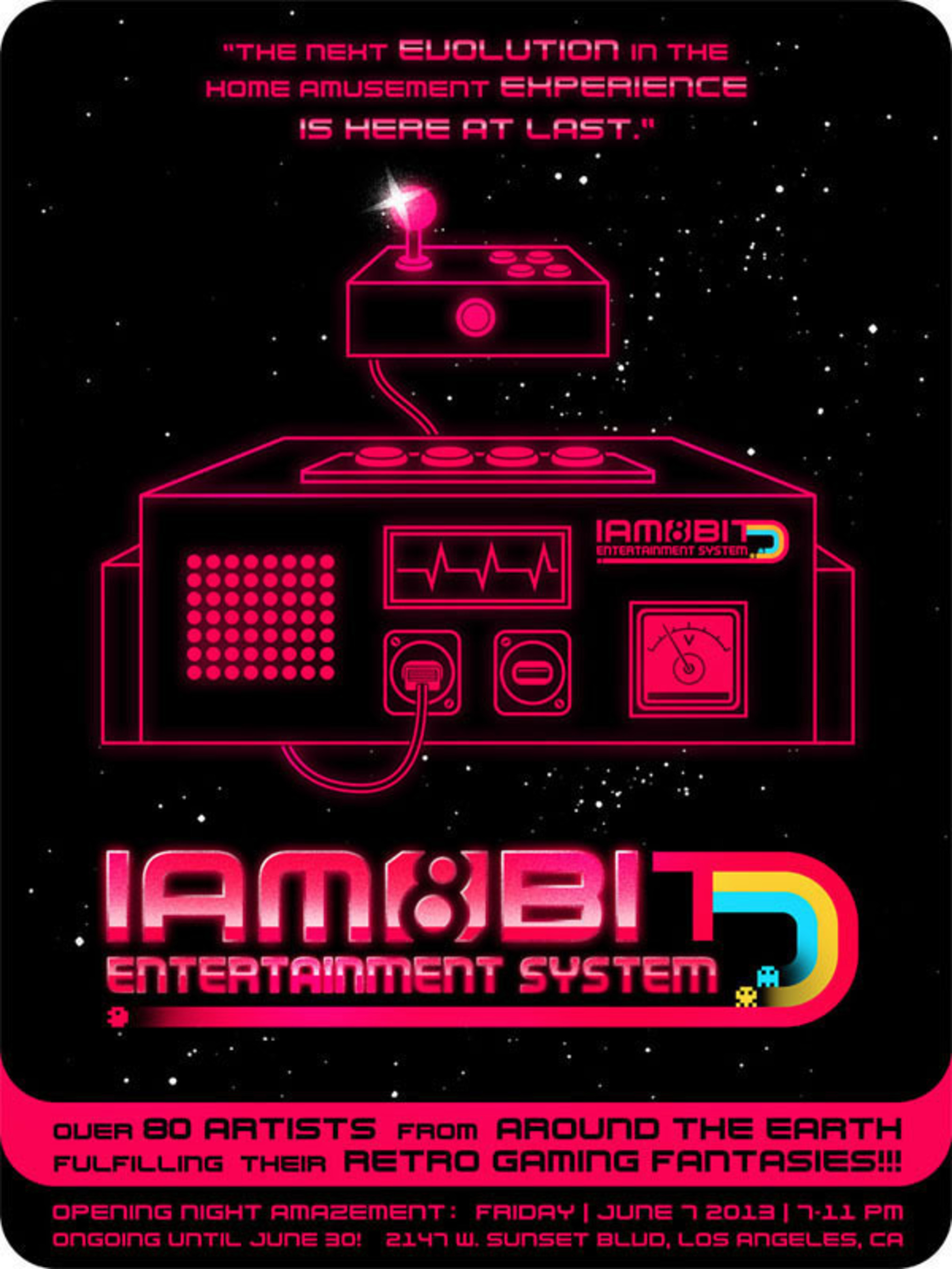 iam8bit Boots-Up iam8bit Entertainment System, A Retro Gaming Gallery Experience