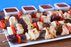Red, White & Blue Kebabs from Hungry Girl and the US Potato Board. (PRNewsFoto/United States Potato Board)