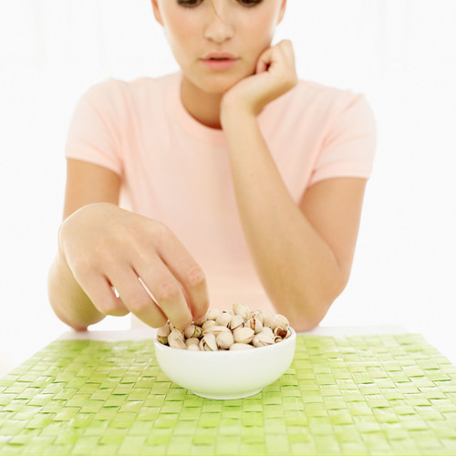 """Pistachios, also known as the """"Skinny Nut,"""" have just 160 calories in a 30-gram serving (approximately ..."""