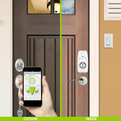 OKIDOKEYS Smart Locks for Smartphones now present on Amazon's Home Automation Store. OKIDOKEYS Bluetooth(R) Smart Locks are now available for home owners, rental properties, and condos; The Internet of Things is revolutionizing keys and makes everyone's life simpler and safer. (PRNewsFoto/OKIDOKEYS)