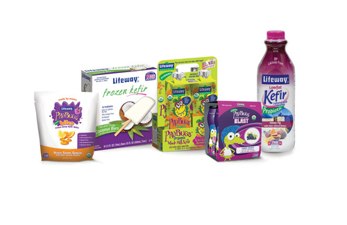 5 New Kefir Confections for Kids & Grownups Roll Out at Lifeway Foods, from 'Bites' for Babies to Low Calorie Frozen Kefir Bars.  (PRNewsFoto/Lifeway Foods, Inc.)