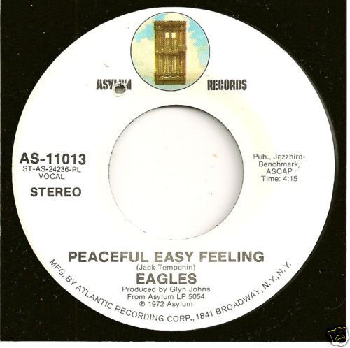 Peaceful Easy Feeling single.  (PRNewsFoto/Jack Tempchin)