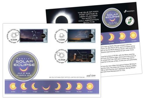 2015 Isle of Man Solar Eclipse Special Cover (PRNewsFoto/Isle of Man Post Office)