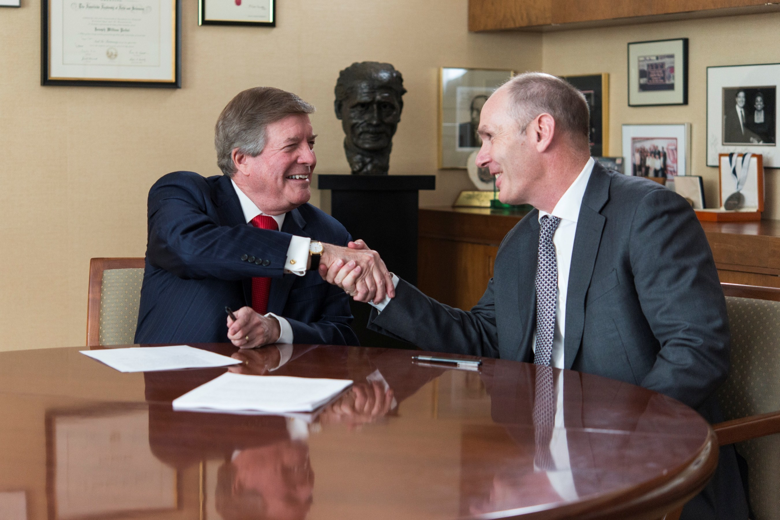 Left to right: Juilliard President Joseph W. Polisi and Andrew Fitzmaurice, CEO of Nord Anglia Education. Photo credit: Gil Vaknin