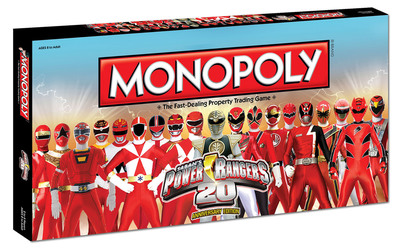 Power Rangers 20th Anniversary Edition of Monopoly.  (PRNewsFoto/Saban Brands)
