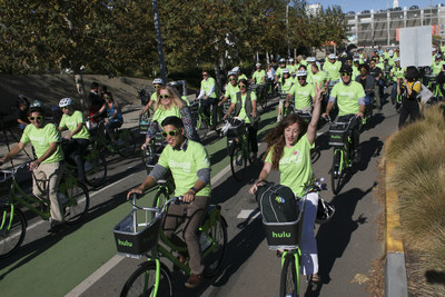 More than 200 people came out to support the launch of the first bike share program in Southern California on November 12, 2015 at Santa Monica City Hall.