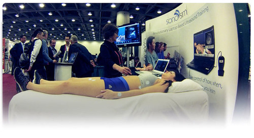 SonoSim LiveScan(TM) at IMSH 2014. (PRNewsFoto/SonoSim, Inc.)