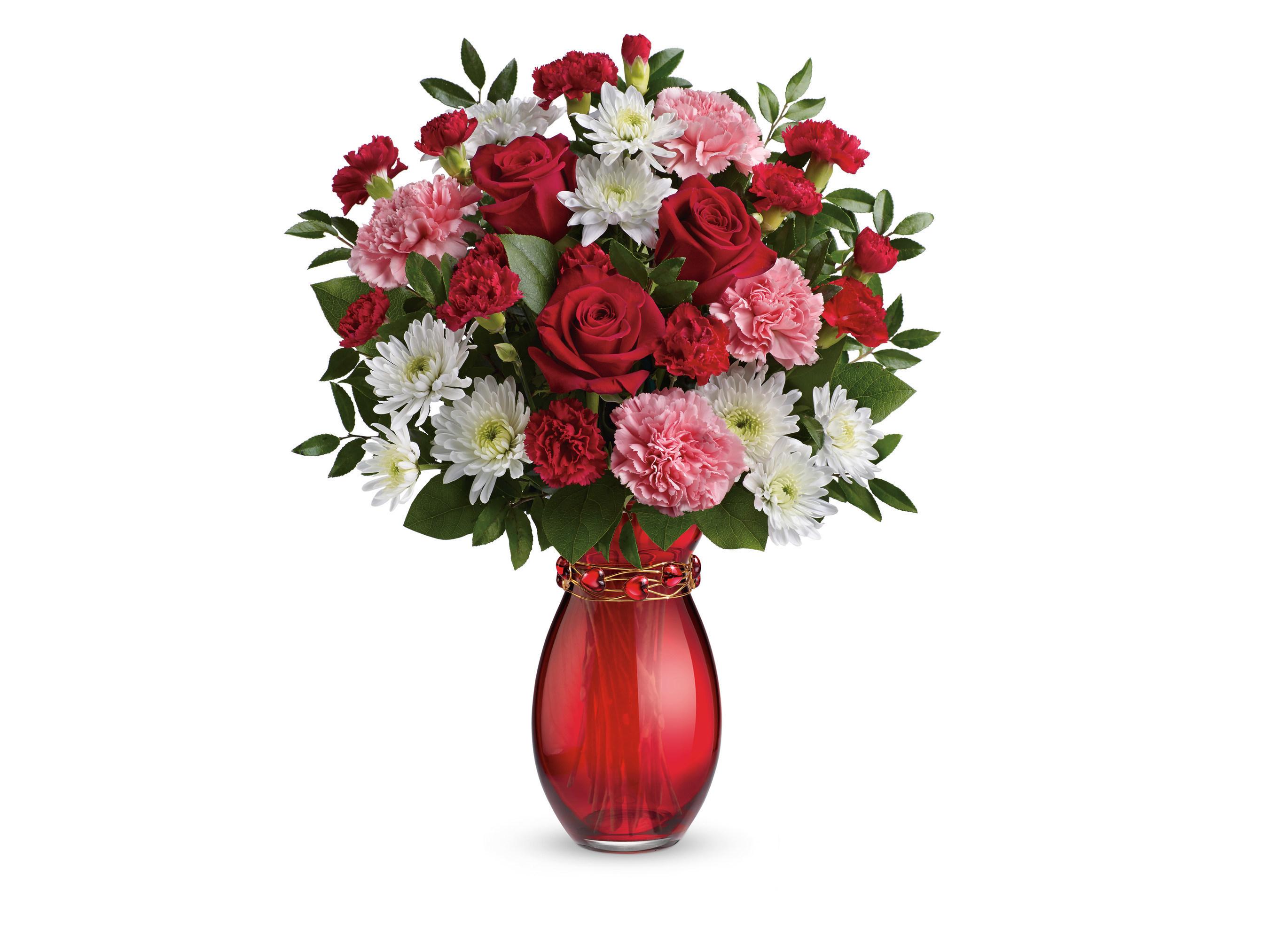 Teleflora's Sweet Embrace Bouquet. (Photo courtesy of Teleflora.)