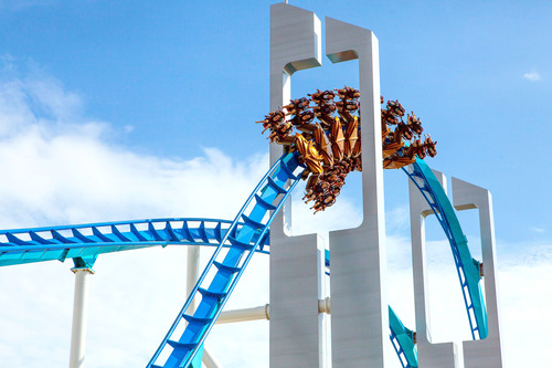 "Cedar Point's newest record-breaking coaster, GateKeeper, earned recognition as one of the ""Best New Rides"" for 2013 in Amusement Today's annual poll.  (PRNewsFoto/Cedar Fair Entertainment Company)"