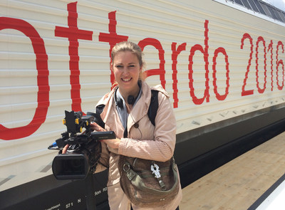 Blick webTV using LiveU technology at the opening of the world's longest railway tunnel, the Gotthard Tunnel.