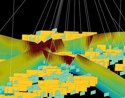 Discrete Fault Network characterization in an accurate 3D geologic model to optimize well placement.  (PRNewsFoto/Paradigm)