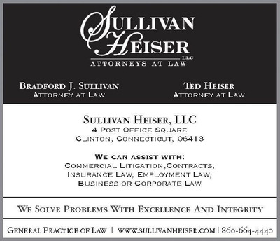 The author of this blog post is a founding member of Sullivan Heiser, LLC in Clinton, Connecticut. Serving residents and businesses located in Middlesex, New Haven and New London Counties in state and federal courts.  (PRNewsFoto/Sullivan Heiser, LLC)