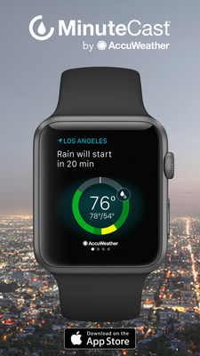 AccuWeather MinuteCast(R) on Apple Watch