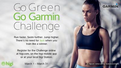 """Go Green, """"Go Garmin"""" March Challenge."""