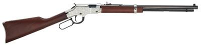 New for 2014, the Henry Silver Eagle, built on the Golden Boy platform with nickel finish receiver, buttplate and barrel band. An incredible value for an engraved rifle with a MSRP of only $849.95. Caliber .22LR. (PRNewsFoto/Henry Repeating Arms) (PRNewsFoto/HENRY REPEATING ARMS)