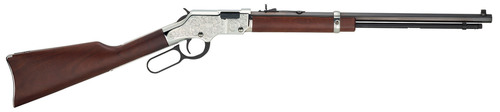 New for 2014, the Henry Silver Eagle, built on the Golden Boy platform with nickel finish receiver, buttplate ...