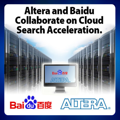 Programmable logic chip-maker Altera and Baidu, the largest search provider in China to collaborate on improving online search with FPGA-based acceleration in Cloud Data Centers. (PRNewsFoto/Altera Corporation)