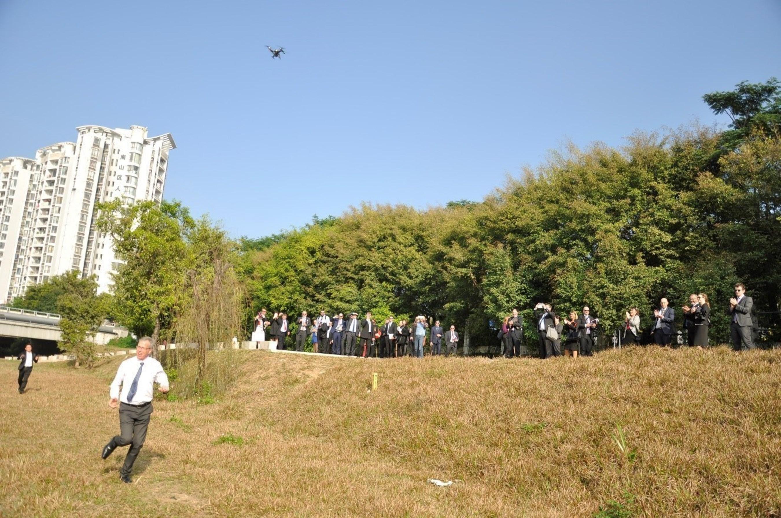 Delegation was flying XEagle UAV