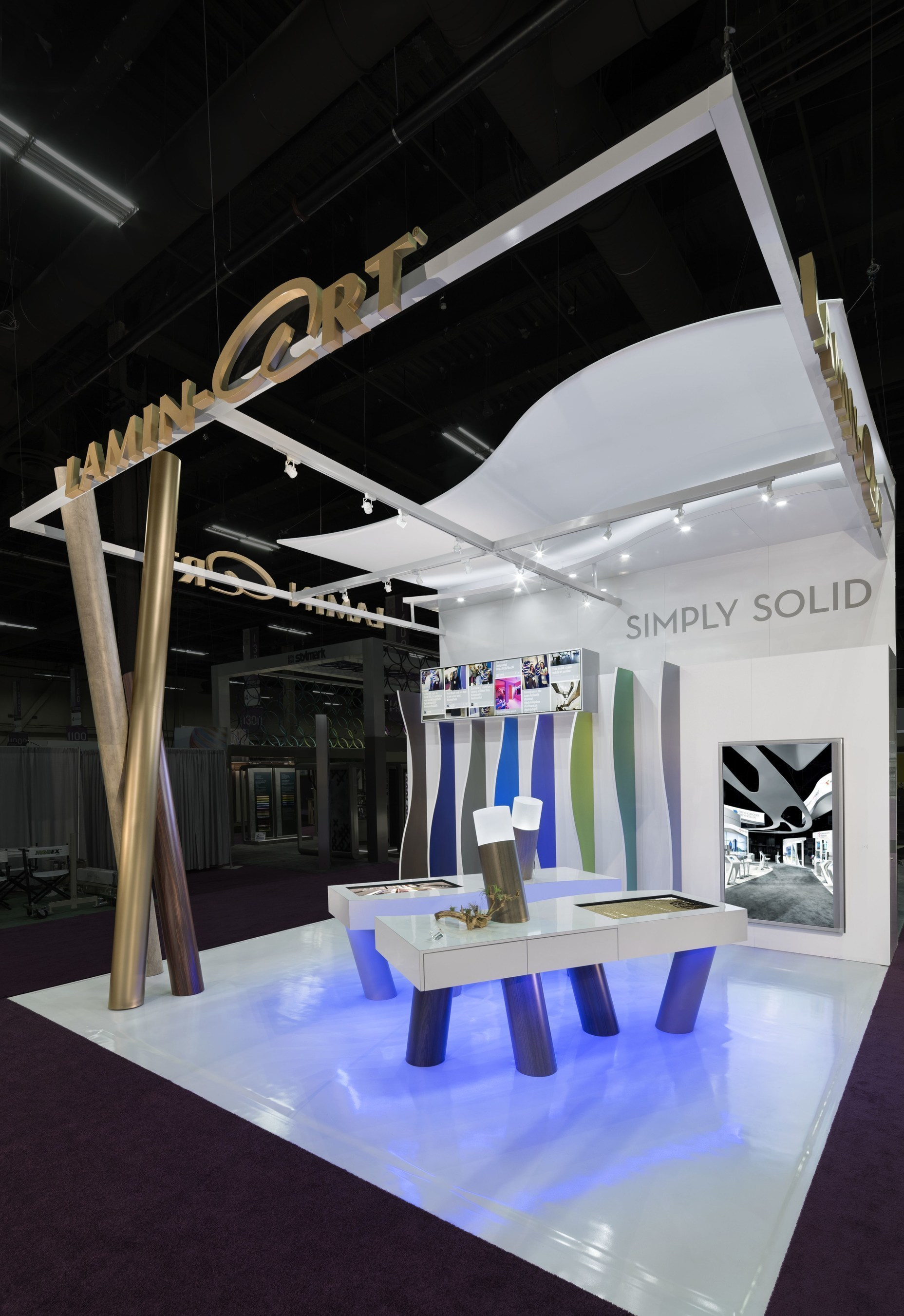 Exhibition Booth : Lamin art trade show booth designed by d exhibits wins