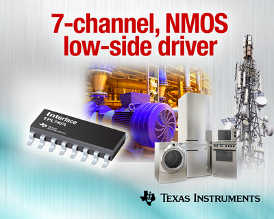 Industry's first 7-channel NMOS low-side driver for high-voltage systems