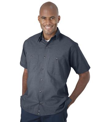 It's Not Just for Athletes -- This UniWeave(R) Soft Comfort MicroCheck shirt balances overall comfort with wicking properties as a result of its 65/35 poly cotton construction.  (PRNewsFoto/UniFirst Corporation)