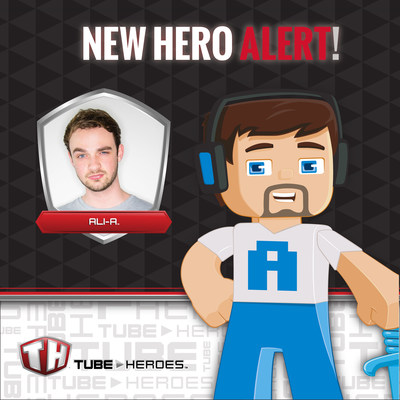 YouTube star Ali-A unveilis his toy action figure by Tube Heroes