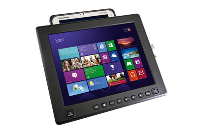 12.1-inch iKeyVision flat panel touch screen display with FZ-M1 mount.