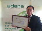 Mr. Tan Hock Hin, Senior Business Development Manager, Hygiene, representing H.B. Fuller