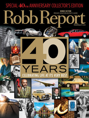 Robb Report Celebrates 40th Anniversary with October Issue