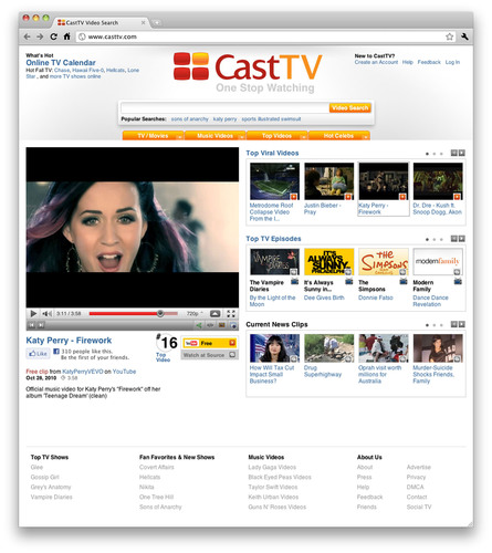 Tribune Media Services (TMS), a leading provider of entertainment information databases, acquires CastTV, a leader in Internet video search, indexing and data technologies.  (PRNewsFoto/Tribune Media Services)