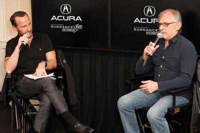 Elliot Scheiner, KCRW's Jason Bentley discuss audio production for music & film.  (PRNewsFoto/Acura)