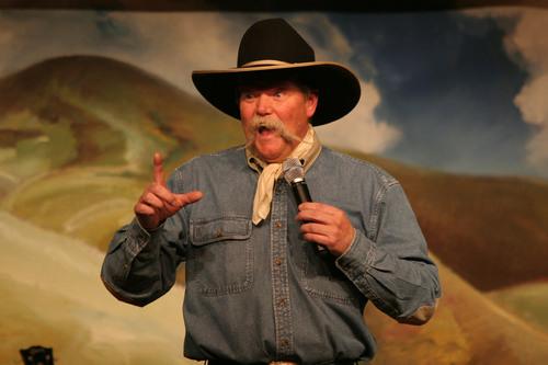 Cowboy poet Waddie Mitchell.  (PRNewsFoto/Western Folklife Center, Charlie Ekburg/Sweetlight Photog)