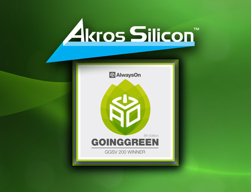 Akros Silicon Selected by AlwaysOn as a GoingGreen Silicon Valley Global 200 Winner.  (PRNewsFoto/Akros Silicon  ...