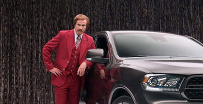 Sales of the 2014 Dodge Durango have increased nearly 60 percent since the Ron Burgundy advertising campaign began.  (PRNewsFoto/Briggs Auto Group)