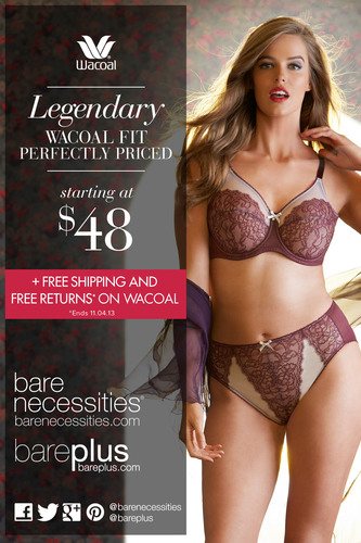 Bare Necessities Unleashes Wacoal: Legendary Fit, Perfectly Priced.  (PRNewsFoto/Bare Necessities)