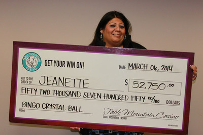 Table Mountain Casino Congratulates Crystal Ball Bingo Jackpot Winner!