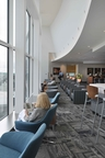 The Club at ATL provides a modern, relaxing and attractive lounge environment for travelers and a respite from the hustle and bustle of the busiest airport in the world