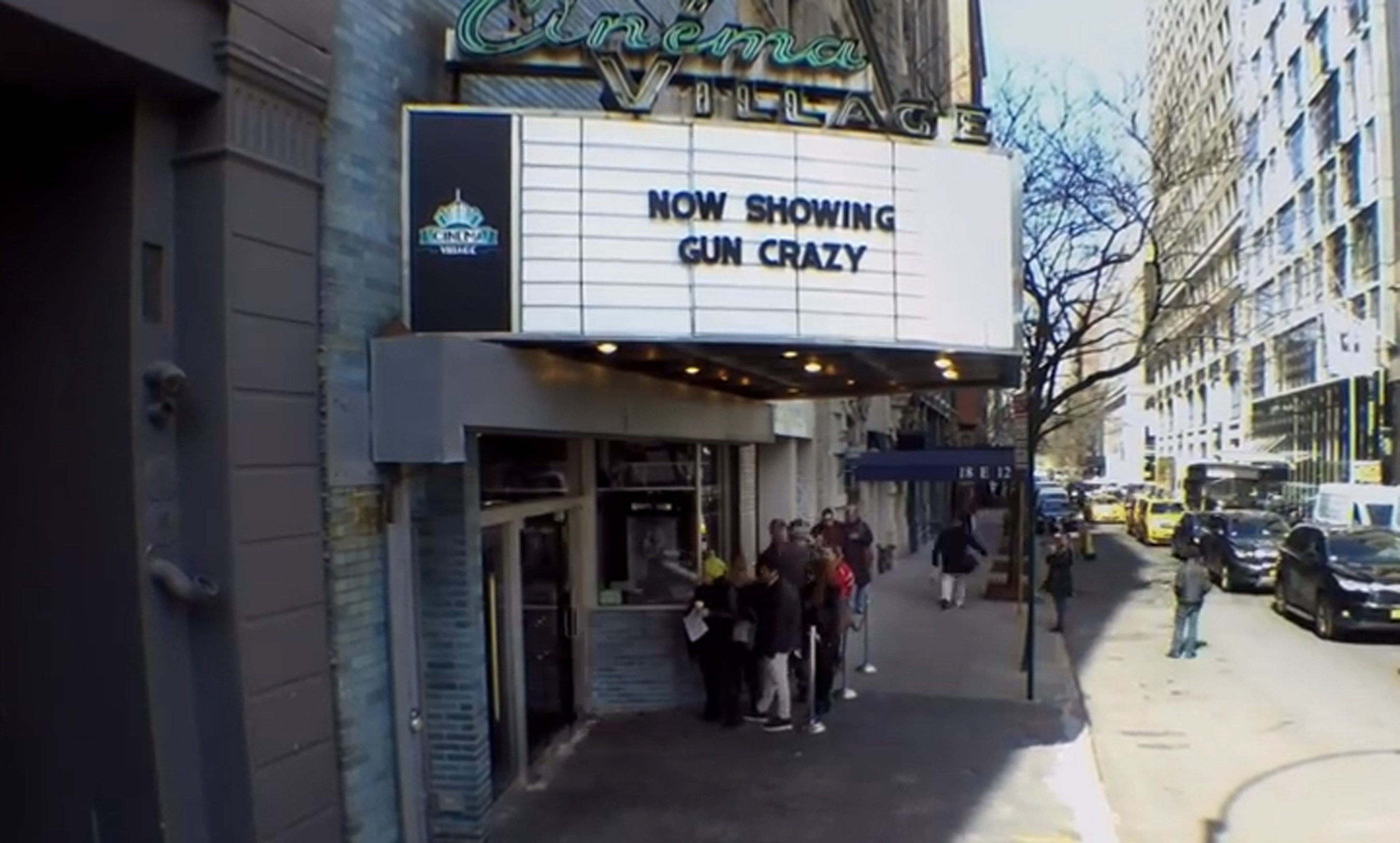 Gun Crazy movie marquee