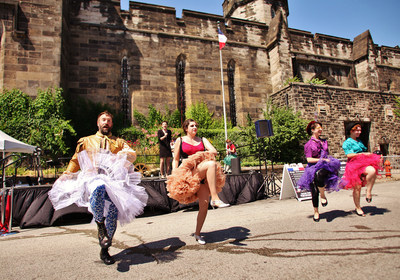 One of Philadelphia's most popular summertime events! Eastern State Penitentiary presents the French Revolution in a spectacle of song, dance, and beheading, as 2,000 Tastykakes fly from the prison's towers. Photo: Darryl Moran (PRNewsFoto/Eastern State Penitentiary)