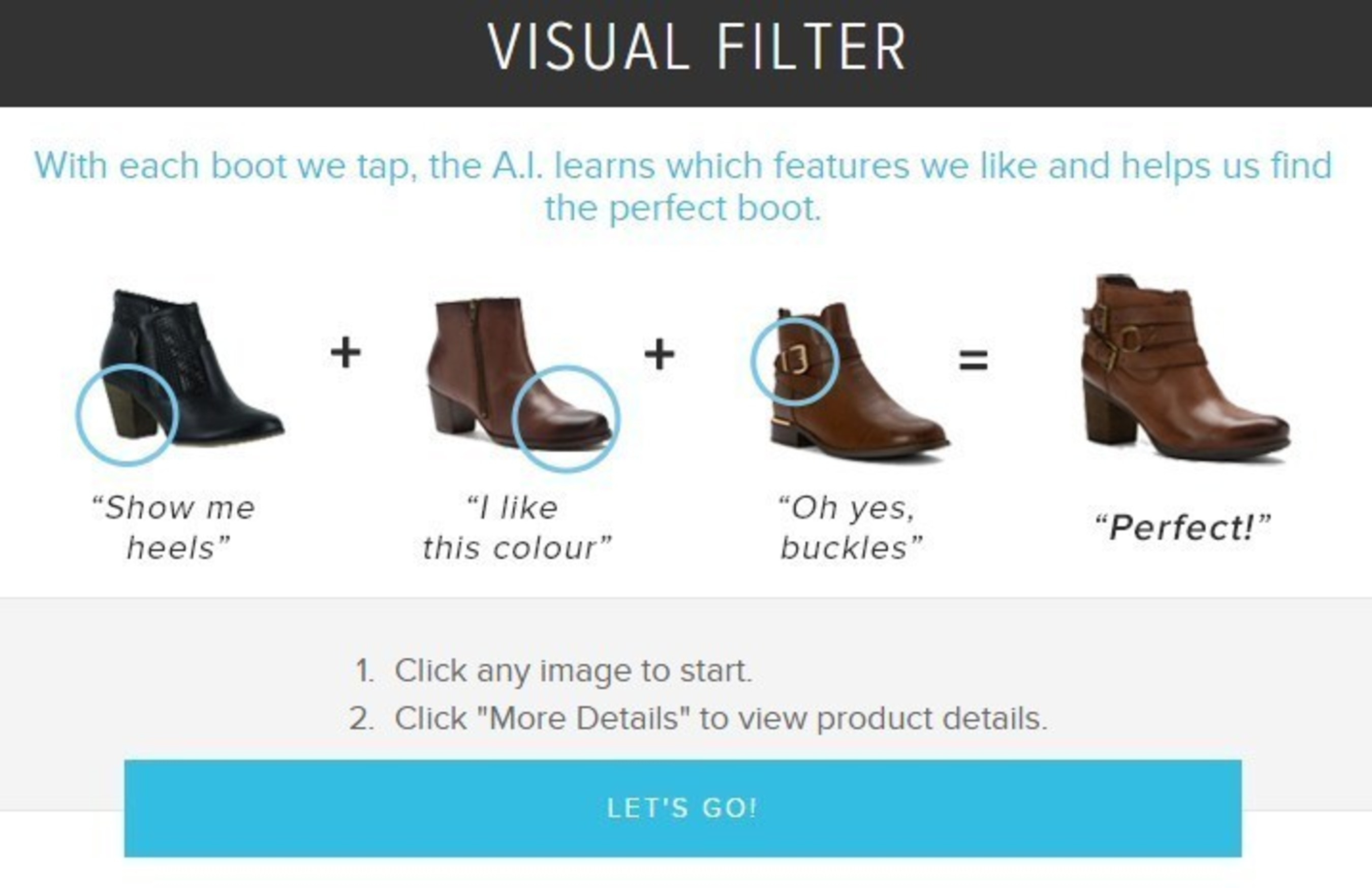 SHOES.COM & Sentient Technologies Unveil Visual Filter - the World's First AI Shopping Experience