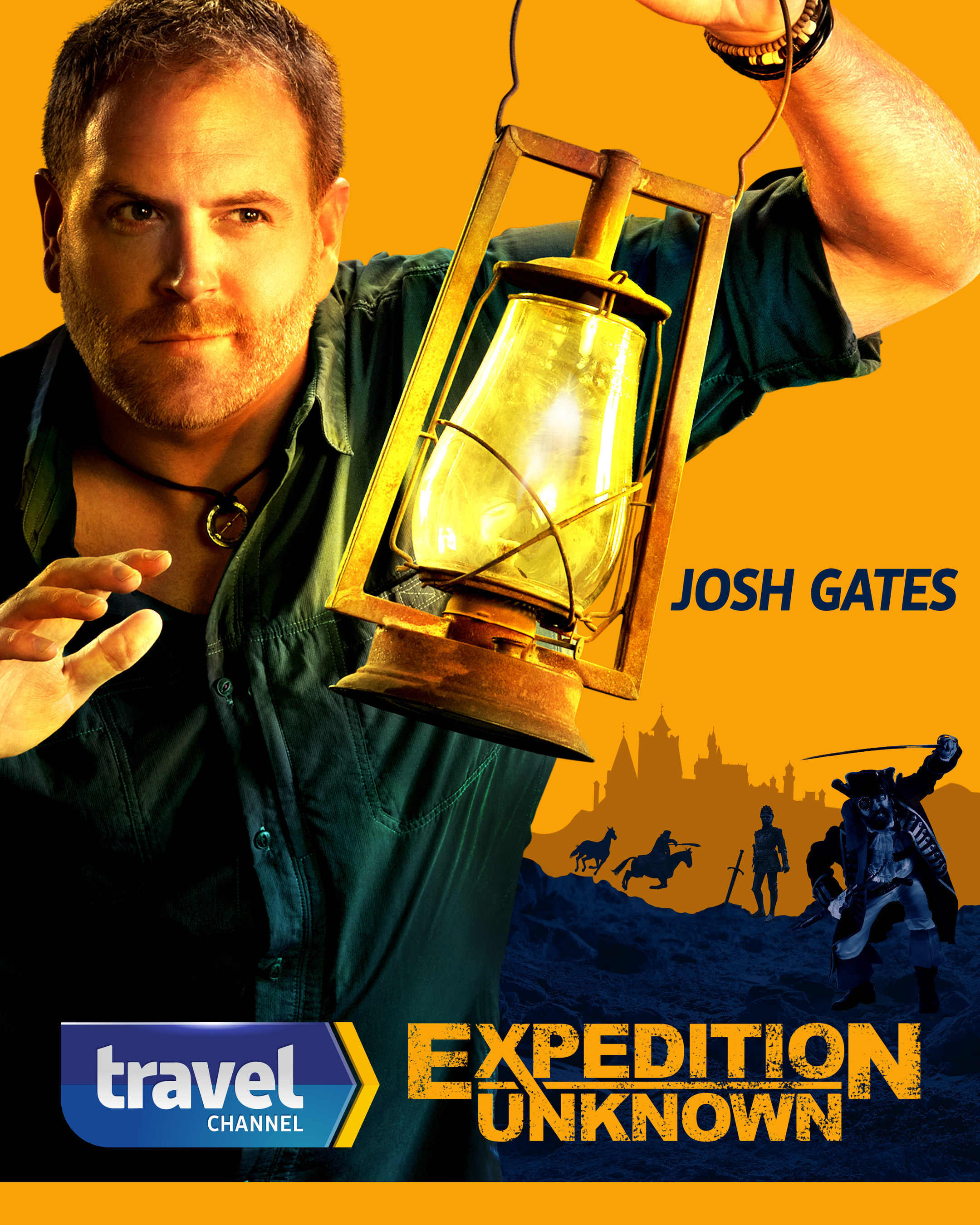 Explorer Josh Gates Sets Out On All-New Thrilling Adventures Investigating The World's Most Intriguing Legends - The Search For The Real Robin Hood, Blackbeard's Hidden