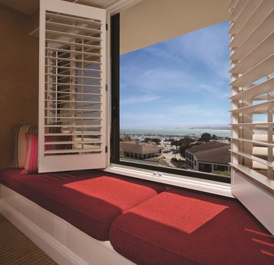 Portola Hotel & Spa in Monterey is one of a number of properties in Monterey County undergoing improvements and renovations for a new look and to enhance the visitor experience. This is a breathtaking view of Monterey Bay from a guestroom.