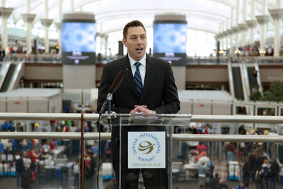 Toby Sturek, executive vice president of Clear Channel Outdoor's Specialty Businesses, today spoke at the unveiling of four new 26-foot LED video towers at the Denver International Airport -- the centerpieces of a major installation of digital technology throughout the airport.