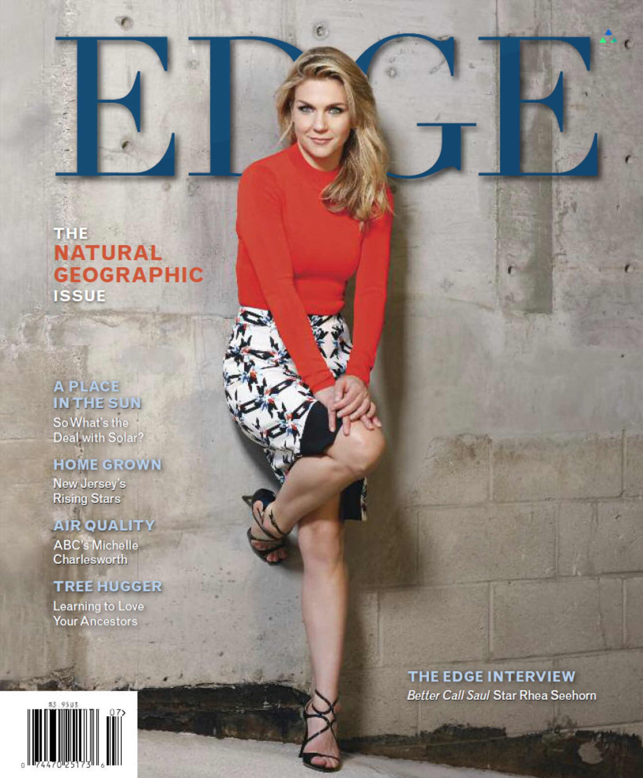 Rhea Seehorn + EDGE Magazine: It's Only Natural - Better Call Saul star talks shop in New Jersey lifestyle magazine's Summer Edition