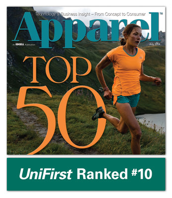 Apparel magazine has ranked UniFirst as one of America's Top 50 apparel companies.