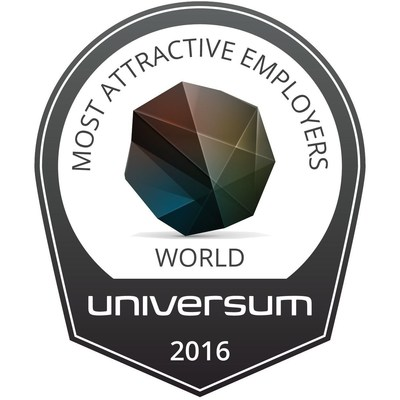 World's Most Attractive Employers 2016 by Universum (PRNewsFoto/Universum)