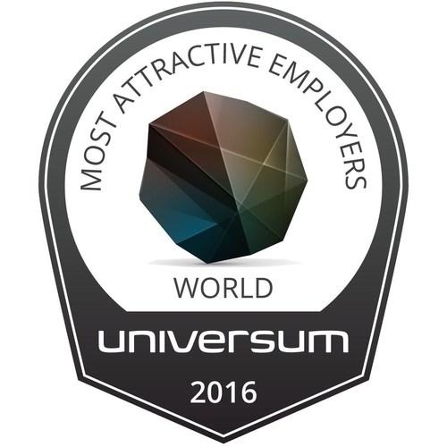 World's Most Attractive Employers 2016 by Universum (PRNewsFoto/Universum)