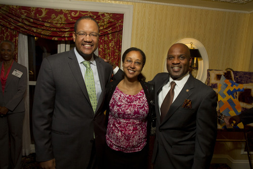 Lamell McMorris with Damona Strautmanis and Michael Strautmanis, Deputy Assistant to the President and ...