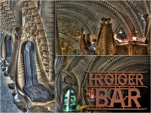 HR Giger Bar (Gruyeres, Switzerland). An incredible, immersive experience, coming soon to the U.S.  (PRNewsFoto/Sci-Fi Hotel LLC)