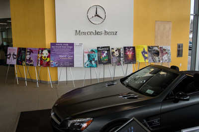 Prior years poster entries for the Mardi Gras for Homeless Children. Please vote now through November 18th at Mercedes Benz of Fort Mitchell.